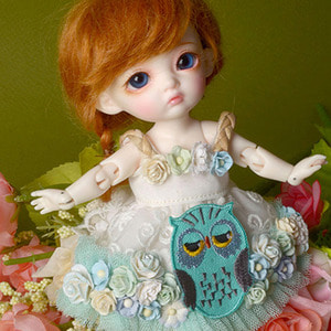 [Bebe Doll.휴쥬베이비] Owl Flowers Dress (Mint)