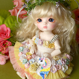 [Bebe Doll] Unicorn Flowers Dress (Coral)