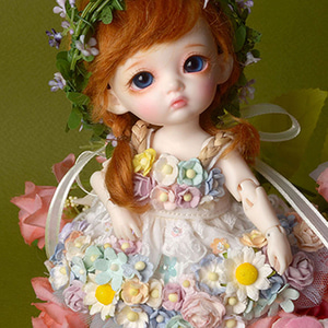 [Bebe Doll.휴쥬베이비] Sodara Flowers Dress (White)