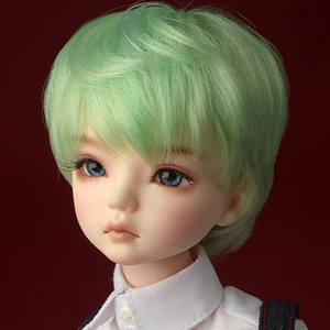 "[7-8""] Zeke Short Cut Wig (Green)"