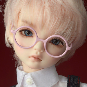 MSD - Round Steel Lensless Frames Glasses (L.Pink)