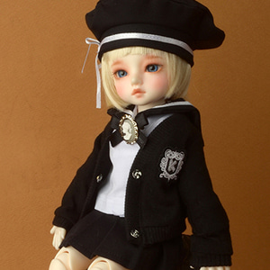 [USD] Cardigan + Sailor Fashion For Girl (Black)