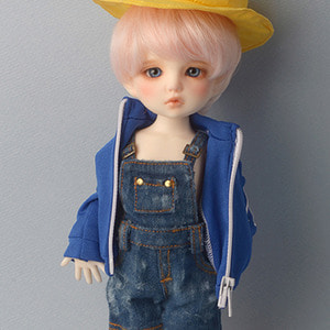 [USD] Mayya Washed Out Style Overalls Pants (Blue)