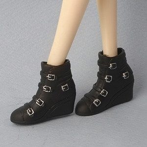 [12inch] MA Buckle Boots (Black)