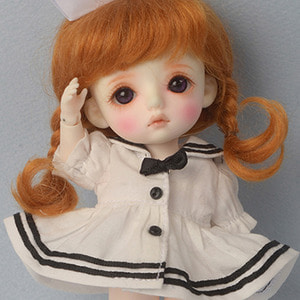[Bebe Doll.휴쥬베이비] Travel by Sailor Dress (White)