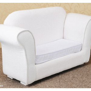 Model doll size - Fabric Double Sofa Frame (White)