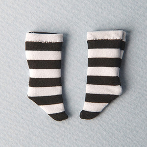 [Bebe Doll.휴쥬베이비] Meme Socks (Stra Black)