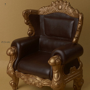 1/4 Scale MSD Size Rococo Chair (D.Brown/Gold)