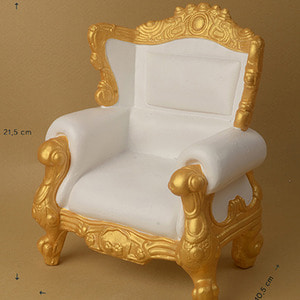 1/4 Scale MSD Size Rococo Chair (Ivory/Gold)