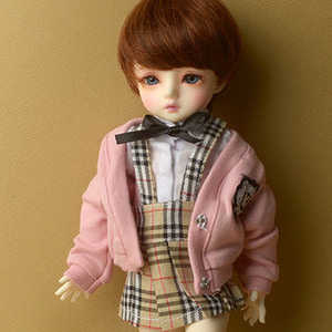 [USD] Petit School Uniform For Girl Set (Pink & Beige)