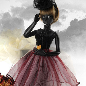 [Judith Girl Size] Melancholy ; Black Reaa Dress - LE 2