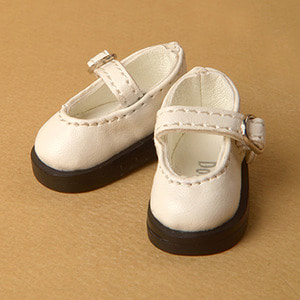 [40mm] Mona Doll - Basic Girl Shoes (White)