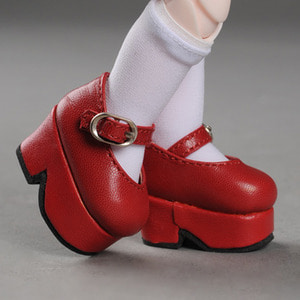 [USD] Platform Basic Girl Shoes (Red)