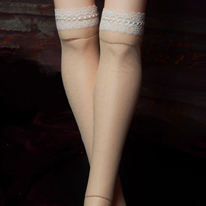 [Trinity Doll Size] Savin Lace Band Stockings (Beige)