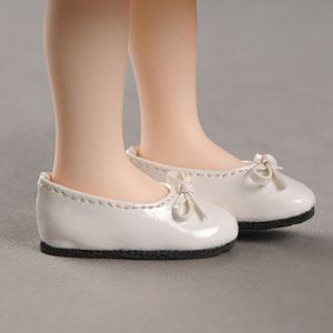 [40mm] Mona Doll - Basic Ribbon C Shoes (White)