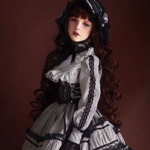 [Trinity Doll Size] Gray Spring dress Set - LE10