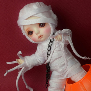 [Bebe Doll.휴쥬베이비] Trick Or Treat Costume (White)