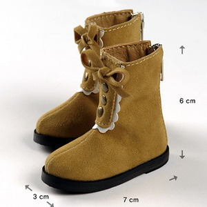 [70mm] MSD - Elina Frill Boots (Brown)[C1]