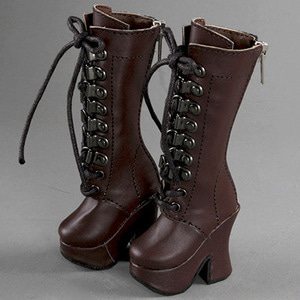 [55mm] MSD (high heels) Shoes - Platform Basic Boots (Choco)