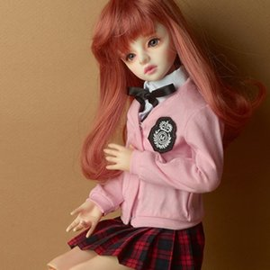 [MSD] Petit School Uniform For Girl Set (Pink & Red Check)
