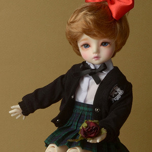 [USD] Dear Doll Size - Petit School Uniform For Girl Set (Black & Green)