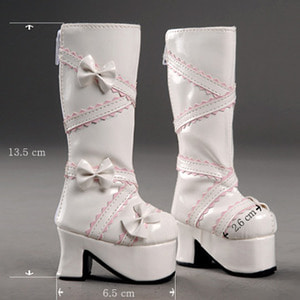 [60mm] MSD - French Ribbon Boots (White)