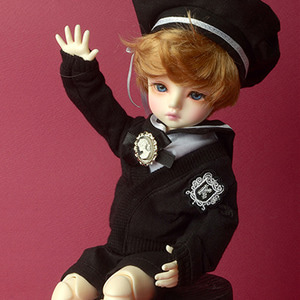 [USD] Dear Doll Size - Cardigan + Sailor Fashion For Boyl (Black)