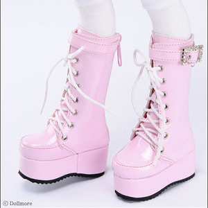 [74mm] MSD - Qubic Buckle Boots (Pink)[C1]