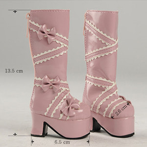 [60mm] MSD - French Ribbon Boots (Pink)
