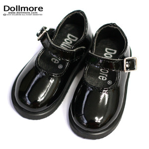 [73mm] MSD - Basic Girl Shoes (Black Enamel)