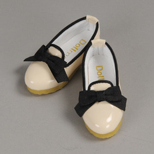 [67mm] MSD - Bell Ribbon Shoes (Ivory)[C1]
