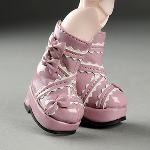 [45mm] USD.Dear Doll Size - French Ribbon Boots (Pink)