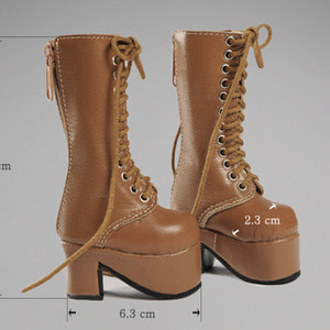 [70mm] MSD - Platform Basic Boots (Brown)[C1]