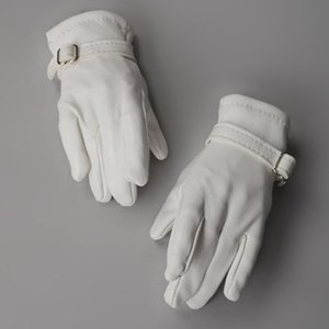 Unfoldable Leather Gloves (White)