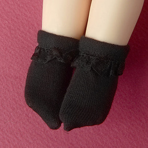 [USD] Dear Doll Size - Ponyo Ankle Socks (Black)