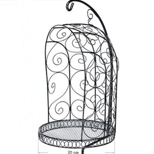 1/4 Scale Bird Cage Style Iron Chair only (Black)