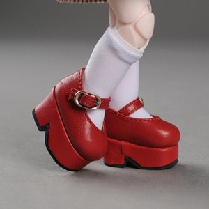 [45mm] USD.Dear Doll Size - Platform Basic Girl Shoes (Red)