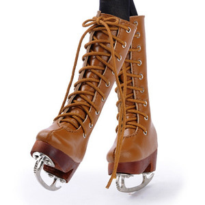[70mm] MSD - Basic Skate Long Boots (Brown)