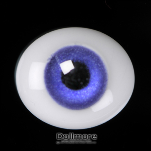 [6mm] Oval Flat Glass Eyes (Violet)