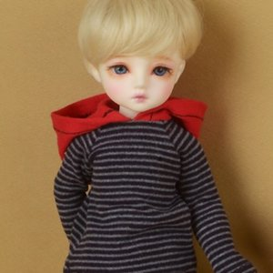 [USD] Dear Doll Size - Comosha Hood Short T Shirts (R Gray)