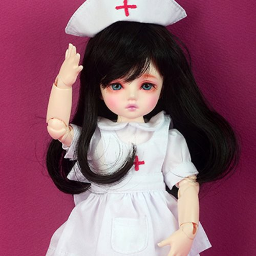 [USD] Dear Doll Size - Surgeon Nurse Dress set (White)