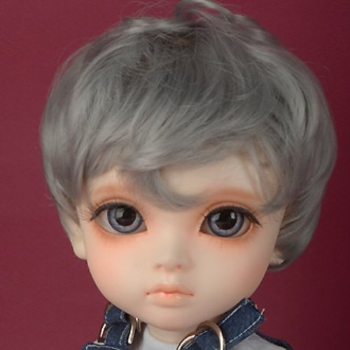 "[13-14""] Zeke Short Cut Wig (Gray)"