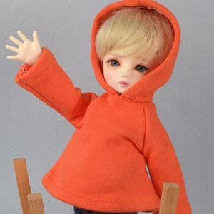 [USD] Dear Doll Size - Mido Box Hood Tshirts (Orange)