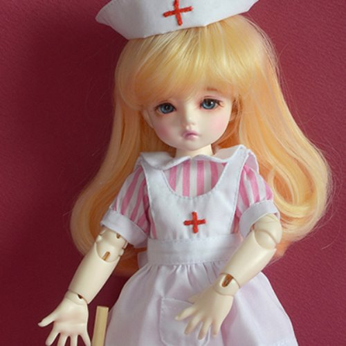 [USD] Dear Doll Size - Surgeon Nurse Dress set (Pink)