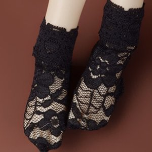 [MSD] ARF Lace Socks (Black)