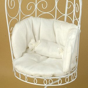 1/6 Scale Cushion For Bird Cage Style Iron Chair (쿠션 White)