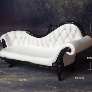 1/4 Scale MSD Size Rococo Couch Chair (White/Black)