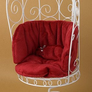 1/6 Scale Cushion For Bird Cage Style Iron Chair (쿠션 Red)