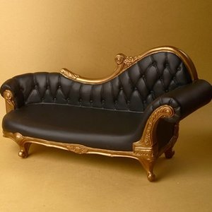 1/4 Scale MSD Size Rococo Couch Chair (Black/Gold)