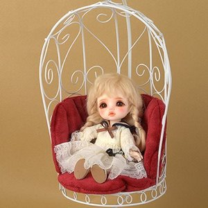 1/6 Scale Bird Cage Style Iron Chair (소파 White/Red)